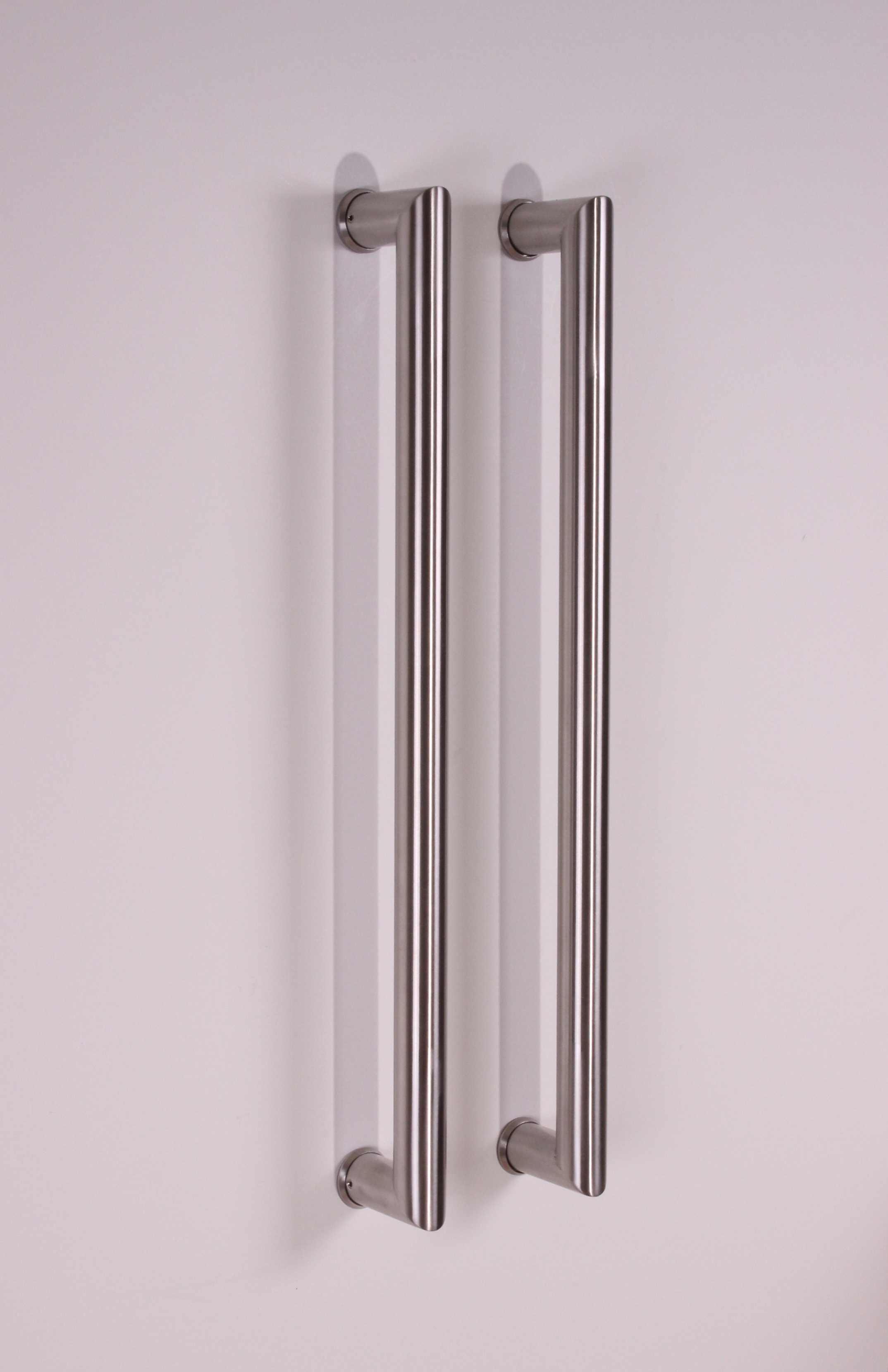 Final sale item pull push tubular rectangle stainless for Entry hardware
