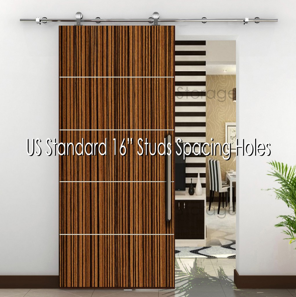 Final Sale Modern Stainless Steel 304 Sliding Wood Barn Door